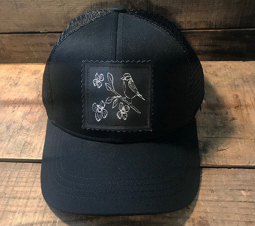Bird with Blossoms (Block Print) Keep on Truckin' Organic CottonTrucker Hat