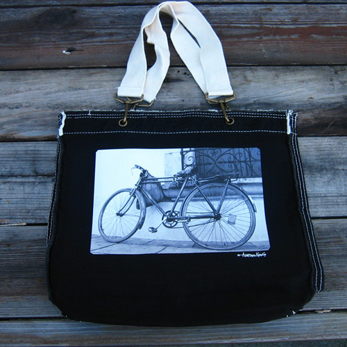 Bike (Bicycle) Cotton Girly Tote/Purse