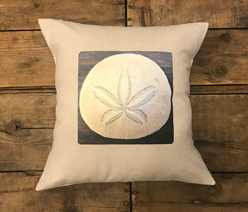 Sand Dollar Handcrafted Pillow