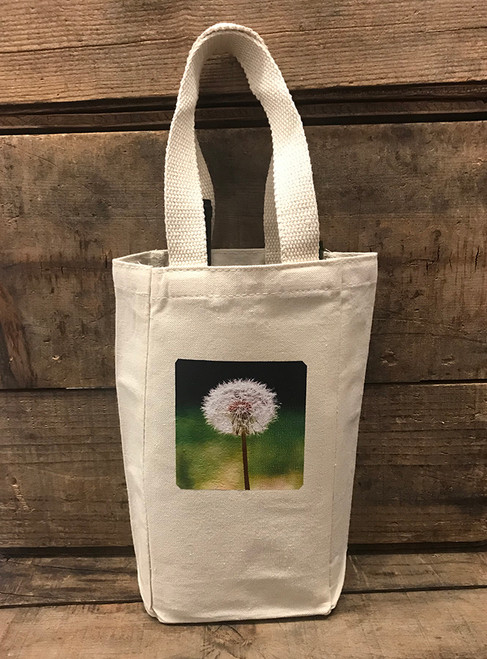 Make a wish (dandelion) Single & 2 Bottle Cotton Canvas Wine/Gift Bag