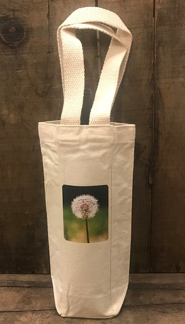 Make a wish (dandelion) Single & 2 Bottle Cotton Canvas Wine/Gift Bag