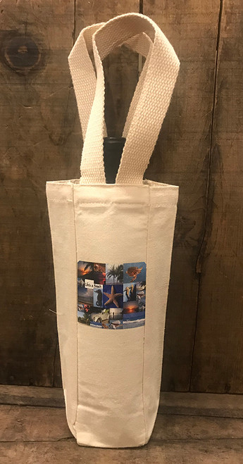 Life's a beach Single & 2 Bottle Cotton Canvas Wine/Gift Bag