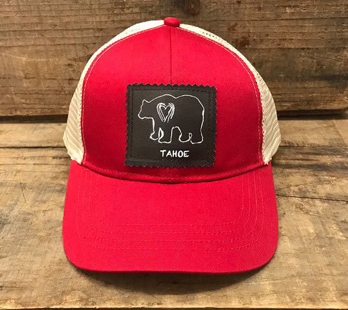 Bear (block print) Tahoe Keep on Truckin' Organic Cotton Trucker Hat