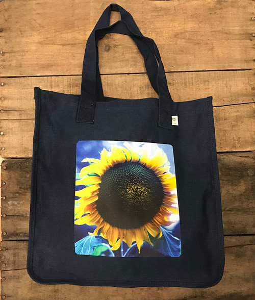 Majestic Sunflower Hemp Tote
