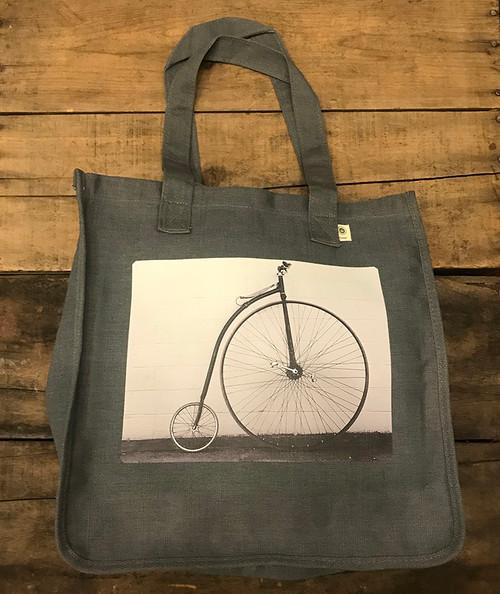 Penny Farthing Bike Hemp Tote