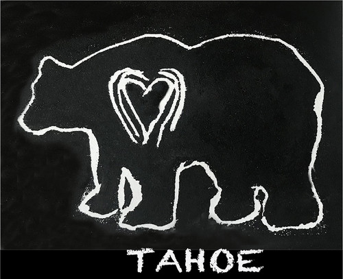 Bear (block print) Tahoe Greeting Card
