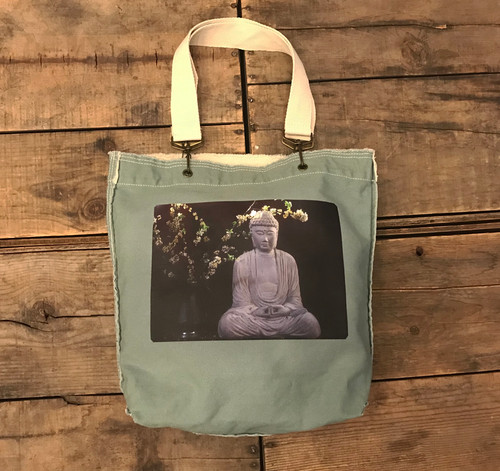 Buddha & Blossoms Cotton Girly Tote/Purse