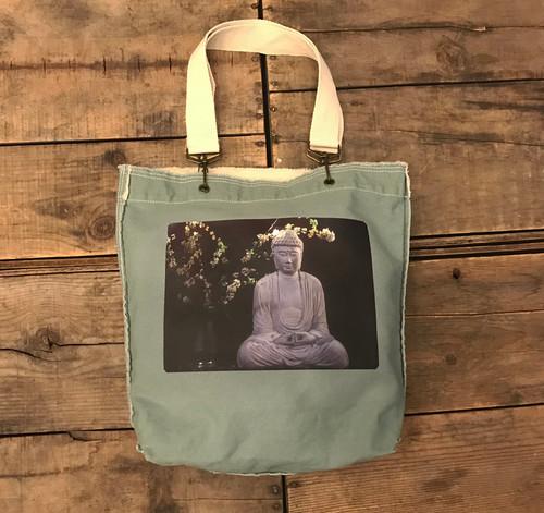 Buddha & Blossoms Cotton Girly Tote/Purse