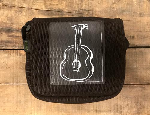 Guitar (block print) Small & Large City Slicker Hemp Purse