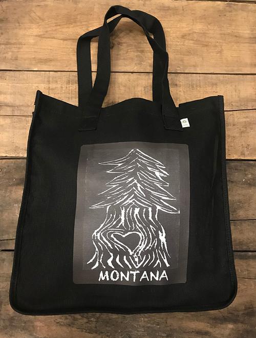 Pine Tree with Heart Montana Hemp Tote