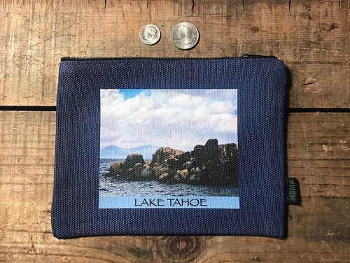 Sand Harbor Lake Tahoe Hemp Medium & Large Coin Purse/Pouch