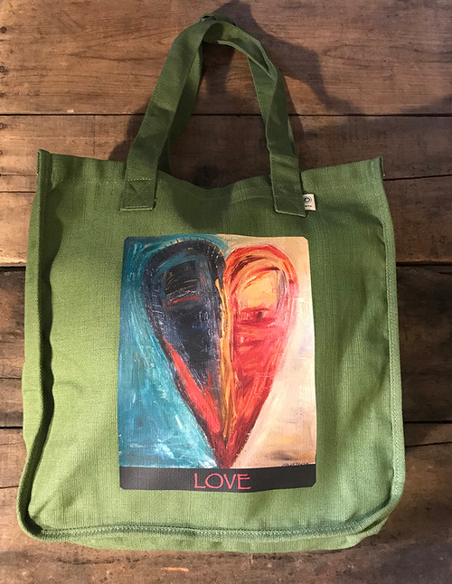 Night & Day Heart Hemp Tote