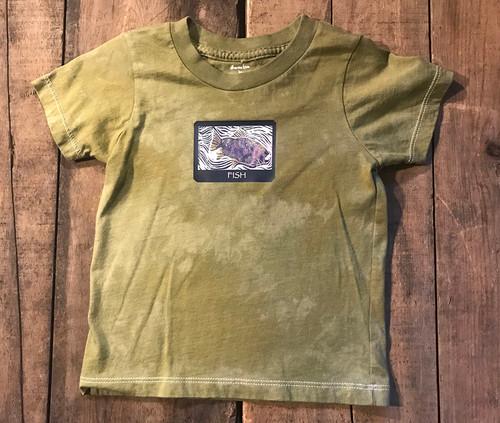 Fish (Block Print) Kid's Certified Organic Cotton T Shirt