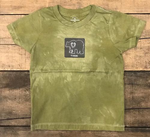 Bear (Block Print) Tahoe Kid's Certified Organic Cotton T Shirt