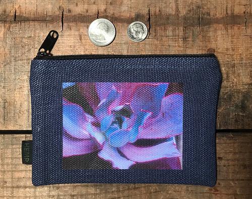 Purple Pearl Succulent Medium & Large Hemp Coin/Pouch