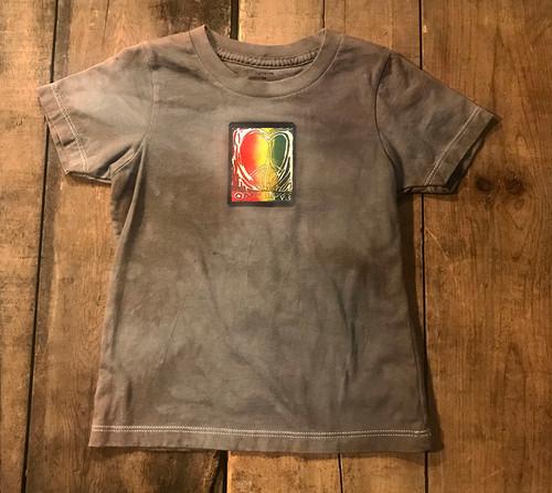 One Love Heart (Block Print) Kid's Certified Organic Cotton T shirt