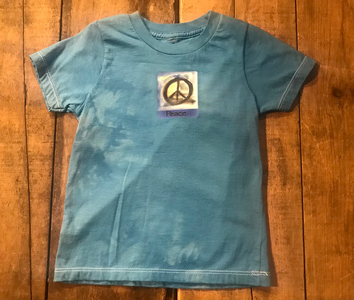 Peace Sign Kid's Certified Organic Cotton T-Shirt