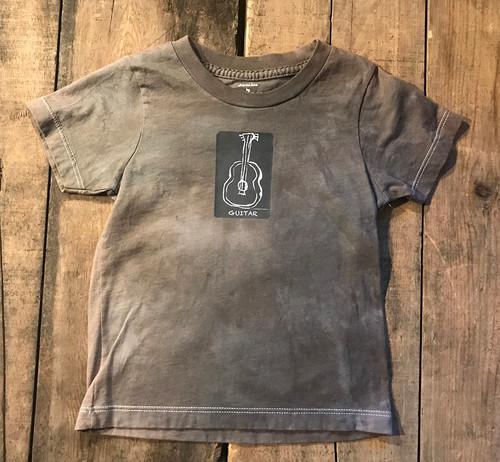 Guitar (Block Print) Kid's Certified Organic Cotton T Shirt