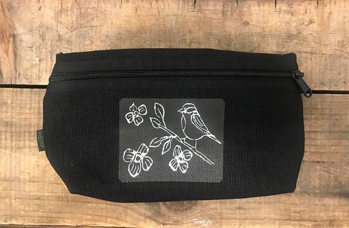 Bird with Blossoms  (Block Print) Hemp Hip Pack & Cross Body Bag