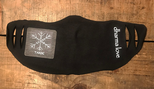 Snow Flake Tahoe (Block Print) Unisex Lightweight Organic Cotton Jersey Face Mask