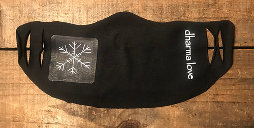 Snow Flake (Block Print) Unisex Lightweight Organic Cotton Jersey Face Mask