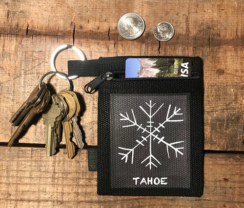 Snowflake Tahoe (Block Print) Hemp Key Coin Purse/Pouch