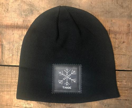 Snowflake Tahoe (Block Print) Organic Cotton Beanie Hat