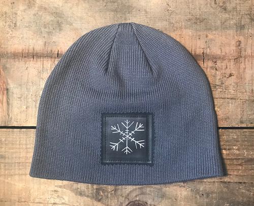 Snowflake (Block Print) Organic Cotton Beanie Hat