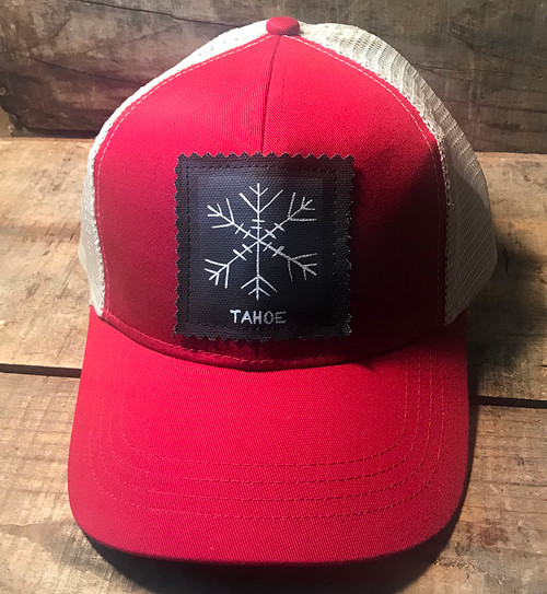 Snowflake Tahoe (Block Print) Keep On Truckin' Organic Cotton Trucker Hat