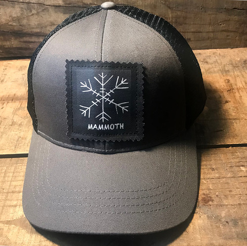 Snowflake Mammoth (Block Print) Keep on Truckin' Organic Cotton Trucker Hat