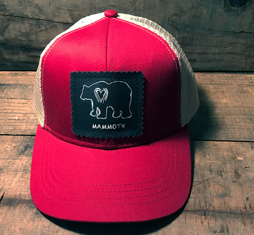 Bear Mammoth (block print) Keep On Truckin' Organic Cotton trucker Hat