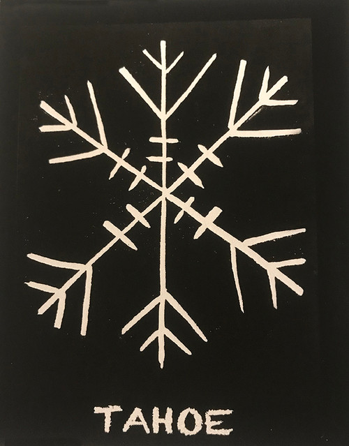 Snowflake Tahoe (Block Print) Greeting Card
