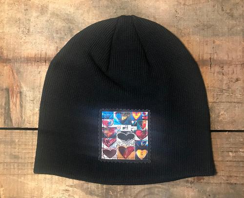 Love, Amore, Agape (Heart Collage) Organic Cotton Beanie Hat