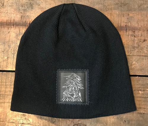 Pine Tree with Heart (Block Print) Organic Cotton Beanie Hat
