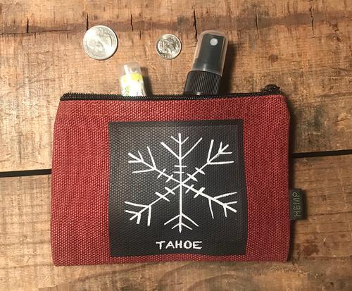 Snowflake Tahoe (Block Print) Medium & Large Hemp Coin Purse Pouch