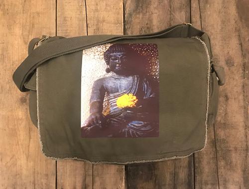 Earth Witness Buddha Cotton Messenger Bag