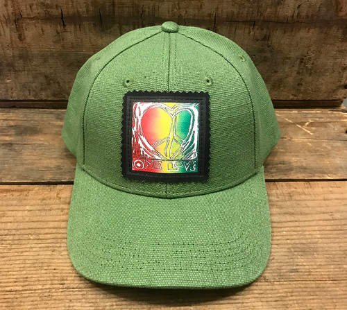 One Love (Block Print) Hemp Baseball Hat