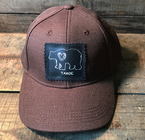 Bear Tahoe (Block Print) Hemp Baseball Hat