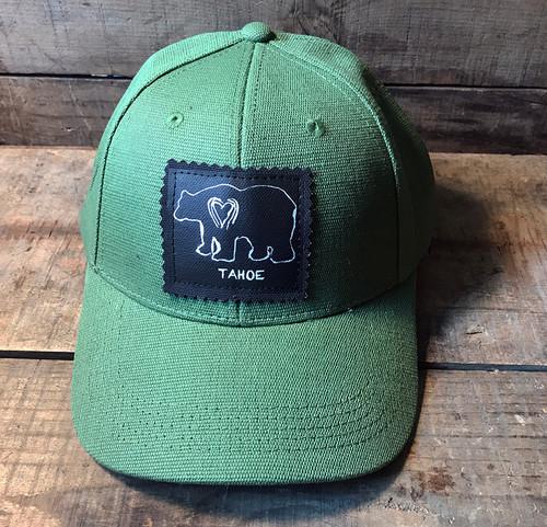 Bear Tahoe (Block Print) Hemp Baseball Hat