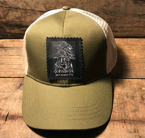 Pine Tree with Heart (Block Print) Mammoth Keep on Truckin' Organic Cotton/Recycled Polyester Trucker Hat