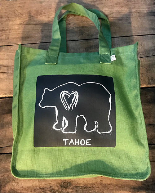 Bear (block print) Tahoe Hemp Tote