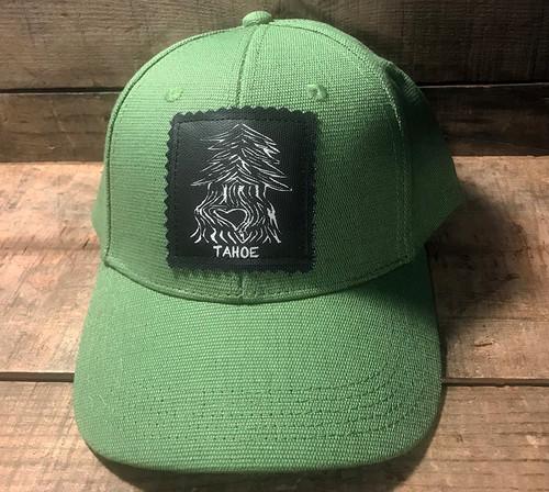 Pine Tree with heart (Block Print) Tahoe Hemp Baseball Hat