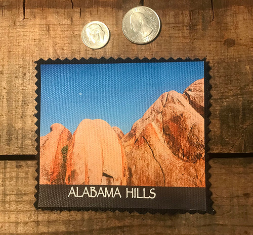 Alabama Hills Rock Formations #910 Sew On Patch