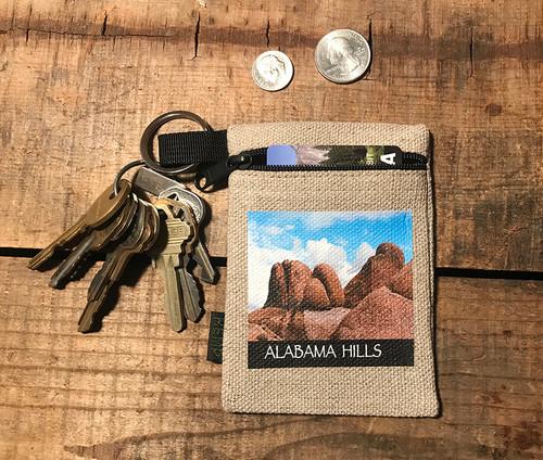 Alabama Hills #914 Hemp Key Coin Purse Pouch