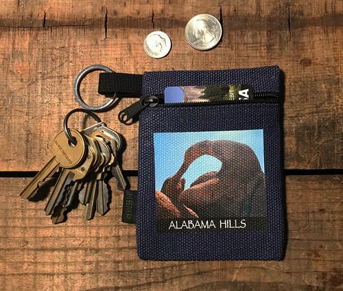 Alabama Hills Arch #907 Hemp Key Coin Purse Pouch