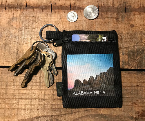 Alabama Hills Moonrise #900 Hemp Key Coin Purse Pouch