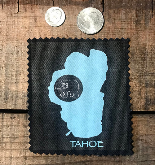Lake Tahoe with Bear Sew On Patch