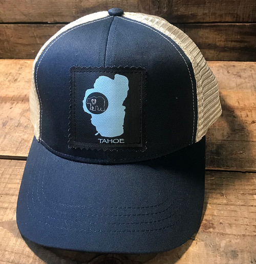 Lake Tahoe with Bear Keep On Truckin' Organic Cotton/Recycled Polyester Trucker Hat