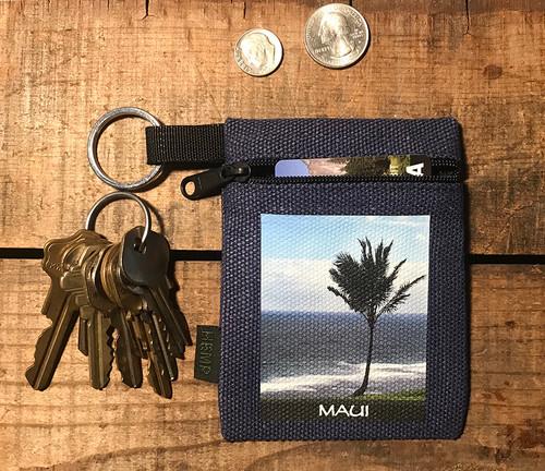 Palm Tree Maui Hawaii Hemp Coin Purse Pouch