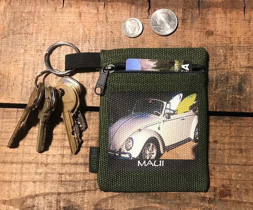 Goin' Surfin' Maui Hawaii Hemp Key Coin Purse Pouch